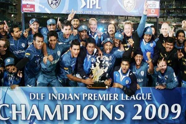 IPL 2009 Season 2 Deccan Charges Winning Moment Picture Image Photo copy
