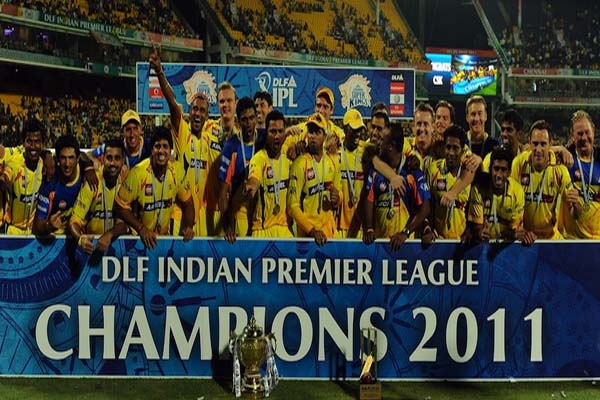 IPL 2011 Season 4 Chennai Super Kings Winning Moment Picture Image Photo