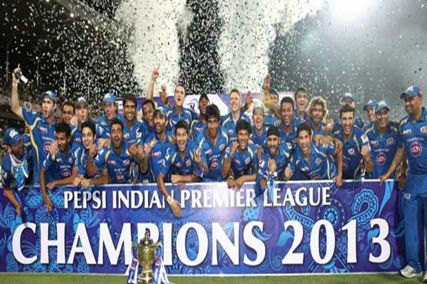 IPL 2013 Season 6 Mumbai Indian Winning Moment Picture Image Photo