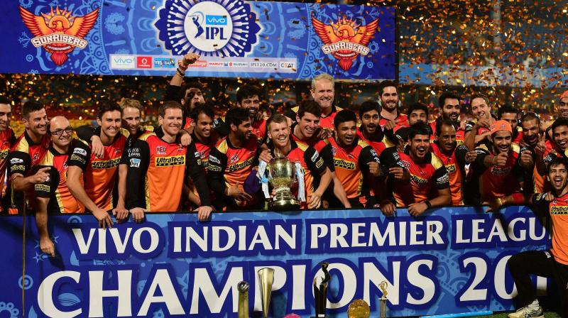 IPL 9 Sunrisers Hyderabad Winning Moment Pic