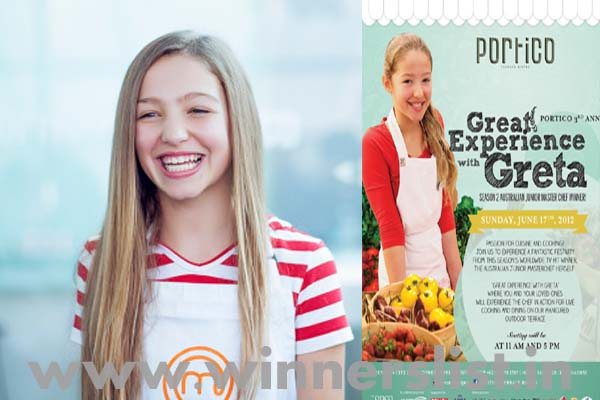 Greta Yaxley junior masterchef australia season 2 winner