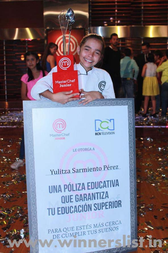 Junior MasterChef Colombia Season 1 Winner Sarmiento Yulitza 2015