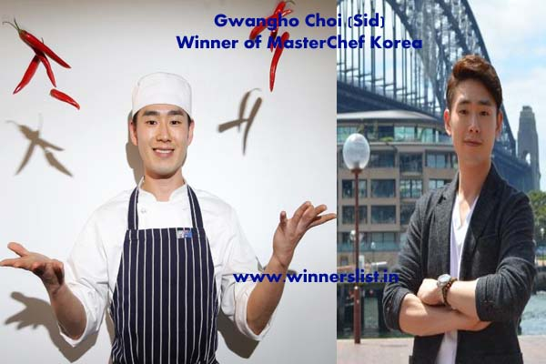 MasterChef Korea Season 3 Winner Gwangho Choi Sid 2014