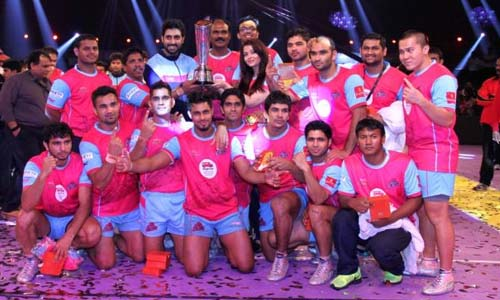 Pro Kabaddi 2014 Season 1 Winner Jaipur Pink Panthers
