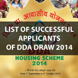 List of DDA Draw Result Winners for Housing Scheme 2014
